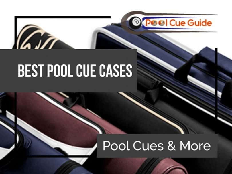 some pool cue cases
