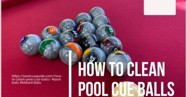 how to clean your billiard balls